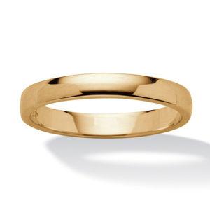 4mm Polished Wedding Band Ring Gold Filled